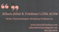Friedman, Allison
